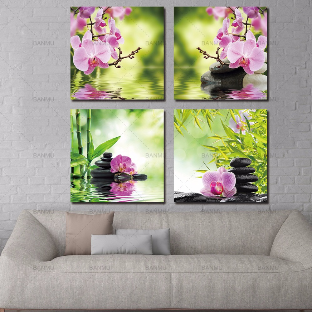Banmu Canvas Painting Decorative Butterfly Orchid