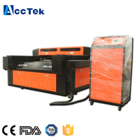 Long lifetime 3d crystal laser engraving machine price with imported mirrors AKJ1325 with double ballscrew
