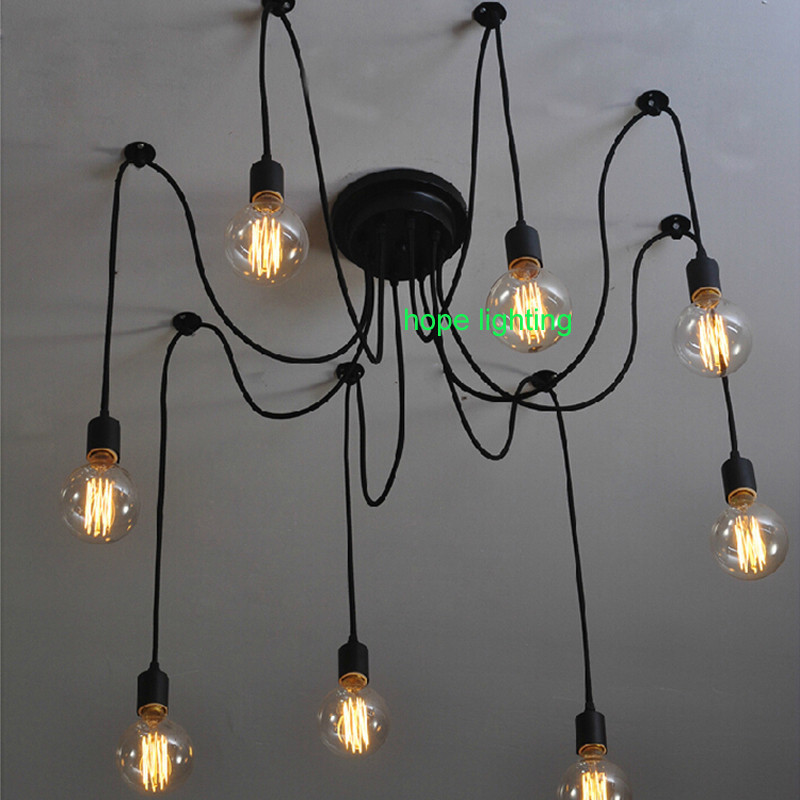 Bathroom Ceiling Lamp: Contemporary Spider Ceiling Light Installation Coffee Shop