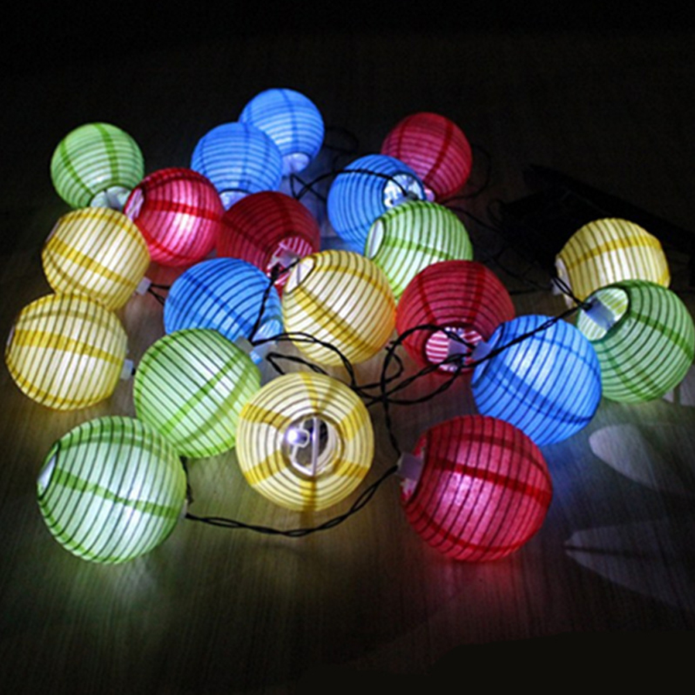 Solar Power Lantern Ball String Lights 30 LED Solar Lamp Outdoor String Fairy Lighting Globe Christmas Party Holiday Decoration