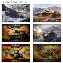 World of Tanks Game Art Print Painting Poster Wall Pictures For Bedroom Home Decoration Wall Decor No Frame Part 1(China)
