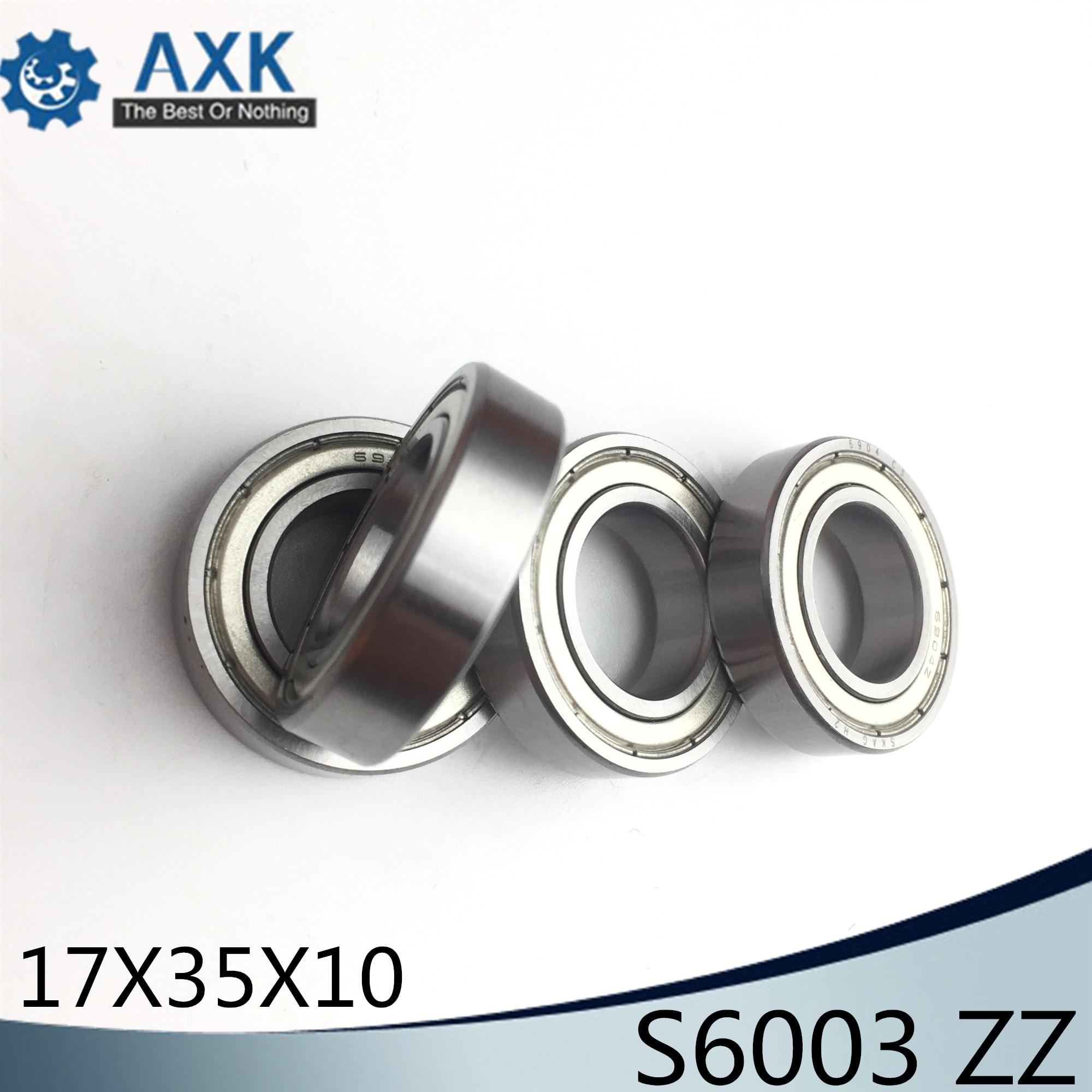 S6003ZZ Bearing 17*35*10 mm ( 10PCS ) ABEC-1 S6003 Z ZZ S 6003 440C Stainless Steel S6003Z Ball BearingsS6003ZZ Bearing 17*35*10 mm ( 10PCS ) ABEC-1 S6003 Z ZZ S 6003 440C Stainless Steel S6003Z Ball Bearings