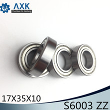 S6003ZZ Bearing 17*35*10 mm ( 10PCS ) ABEC-1 S6003 Z ZZ S 6003 440C Stainless Steel S6003Z Ball Bearings
