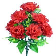 Roses heads rose flowers wedding artificial Potted roses can be multi-colored bonsai plant LIN TING