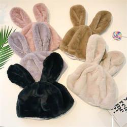 Уши кролика милые плюс бархатные теплые плюшевые шапка, аксессуары для фотографий Косплей игрушка плюшевая игрушка в шапке Рождество