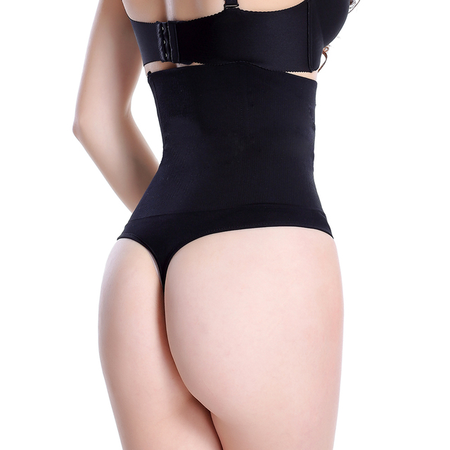 33a6862c9b Women High Waist Butt Lifter Body Shaper Sexy Thong Underwear Waist Trainer  and Tummy Hip Control Panties Bum Lifter Shapewear