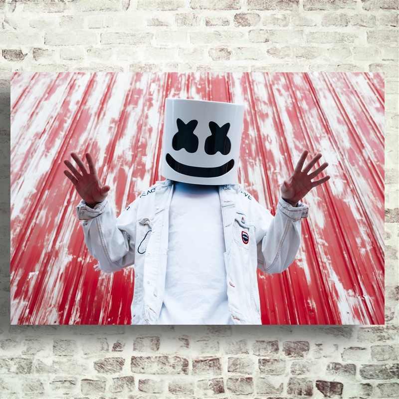 Arte de estrella de la música del DJ de malvavisco póster de seda imprime la pintura de la decoración de la pared del hogar