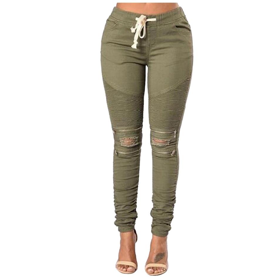 2016 High Elastic Boyfriend Jeans For Women Pantalon Femme Grande Taille Tie Cotton Blend Holes Sexy Skinny Jeans Woman 4 Colors набор для кухни pasta grande 1126804