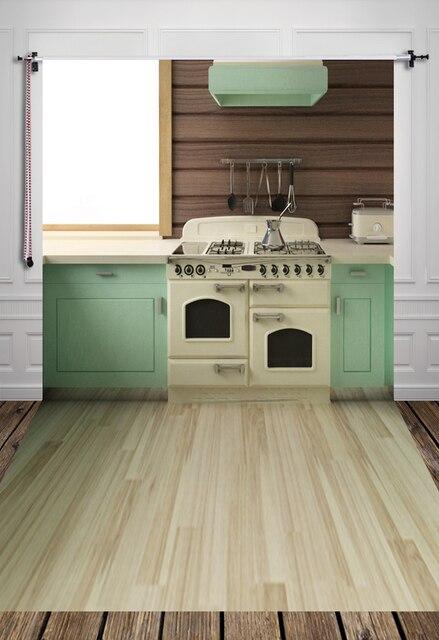 US $6.0 40% di SCONTO|Huayi cucina interna sfondo con pavimento in legno  d\'epoca art tessuto fondale neonato d 7555 in Huayi cucina interna sfondo  con ...