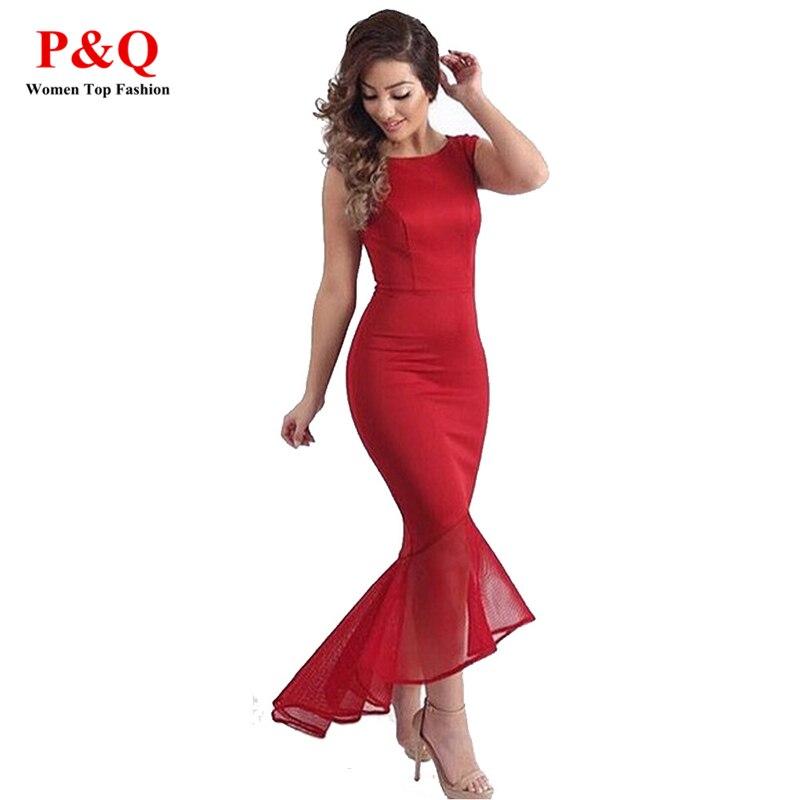Aliexpress.com : Buy 2017 Summer Long Mesh Red Dress Casual ...