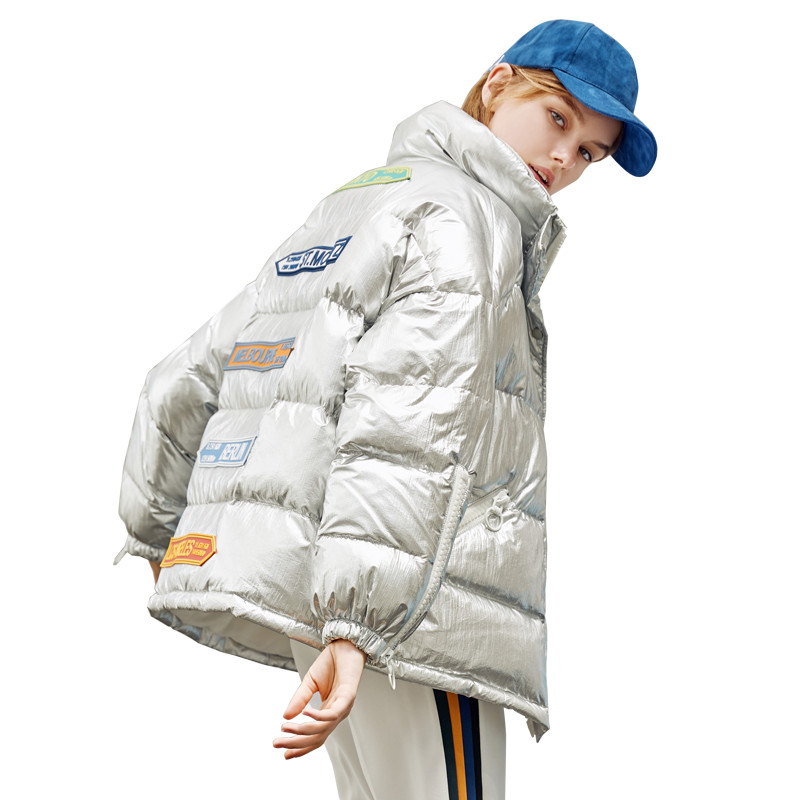 New Fashion Winter Women's   Down   Jacket Oversize 90% White Duck   Down     Coat   Female Warm Parka Stand Collar Outerwear 2019 YQ299