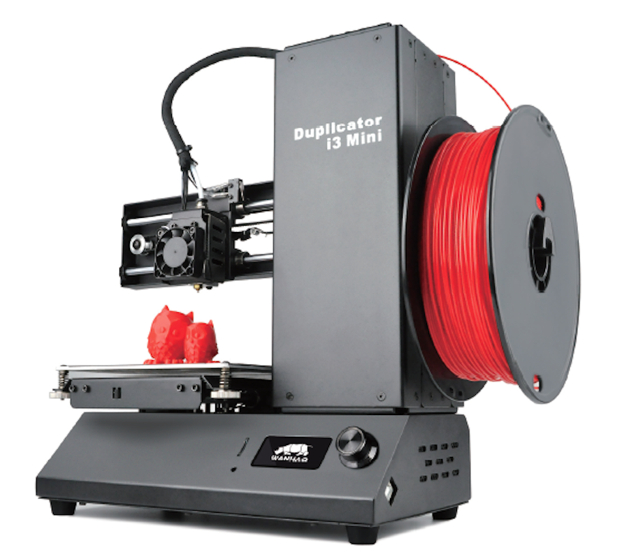 New 2017  Wanhao printer i3 Mini - a great gift for a school boy or a student (just 3D printer, not include PLA) wanhao granding metal duplicator 4s wanhao d4s 3d printer double extruder with free filaments memory card usb cable