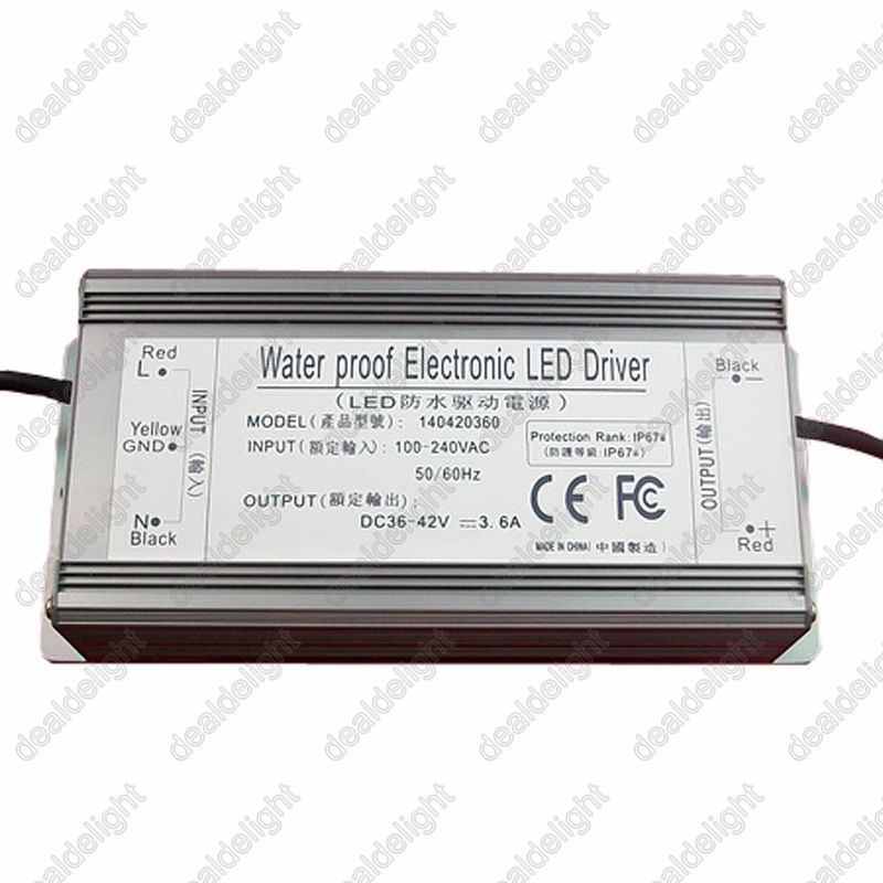 ФОТО Freeshipping!IP67 Waterproof 150W Constant Current LED Driver AC100-250V to DC36-42V 3600mA for 150W High Power LED Light