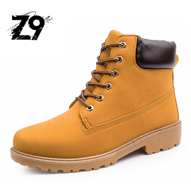 2016 men boots outdoors camel color winter keep warm with or without plush  lining nubuck upper