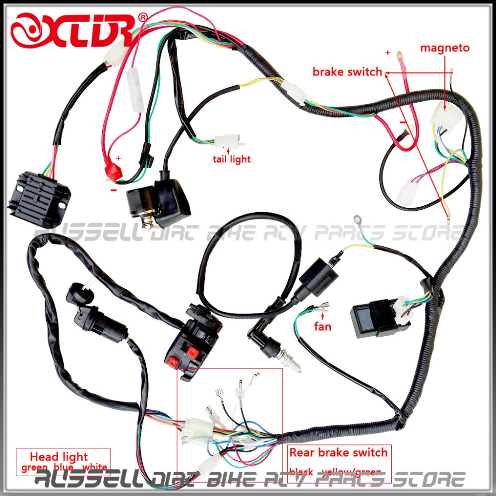 Full Wiring Harness Loom Solenoid Coil Regulator Cdi 200cc 250cc Atv A Switch Quad Bike In Parts Accessories From Automobiles Motorcycles On