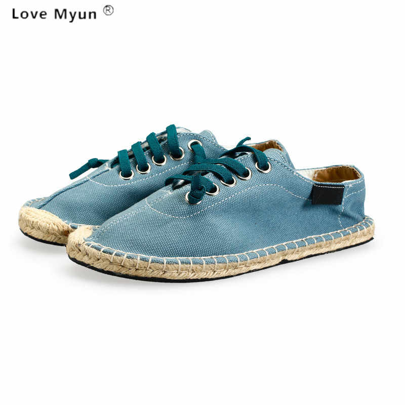 cheap for discount a44d4 cfe10 ... Lover Slip On Flats Fisherman Shoes Casual summer Sandals conci style  loafers Zapatillas Mujer Espadrilles Canvas ...