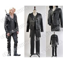 The Mortal Instruments: City of Bones Jace Wayland Pleather Black Jacket Pants Uniform Halloween Cosplay Costume For Men