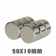 цена 5/10/50pcs 20x10 mm Super Powerful Neodymium Magnets Free Shipping N35 20*10 mm Rare Earth Magnet Neodymium Magnets For Crafts в интернет-магазинах