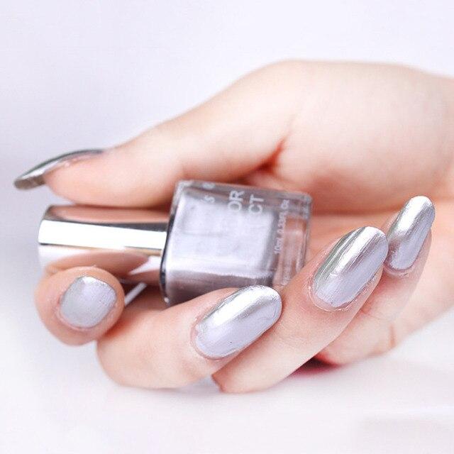 Profesional 1 unids 10 ml 5 colores espejo metálico efecto Esmaltes ...