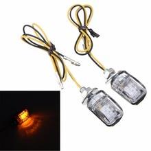 2 stücke 12V Universal Motorrad Mini Blinker Licht 6LED Bernstein Blinker Anzeige Lampe 6mm Montage Bolzen 26 x 17x18mm