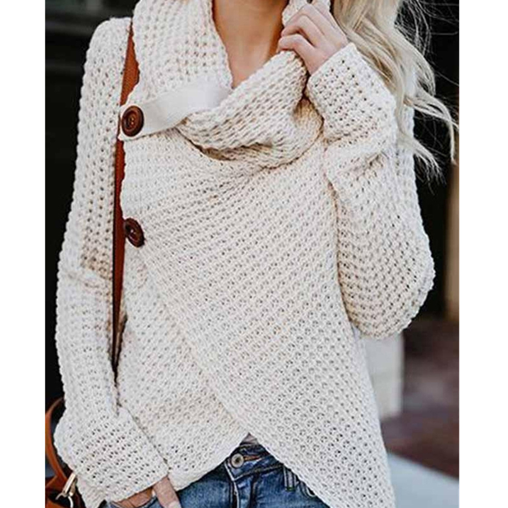 Brand 2018 Autumn Winter Fashion Solid Sweet Women Sweater Turtleneck Hollow Out Lace Up Cross Knitted Tops Casual Pullovers Reliable Performance Women's Clothing Pullovers