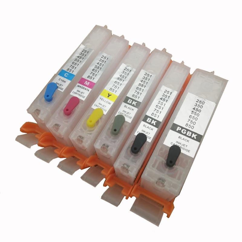Vilaxh PGI-470 CLI-471 Refillable Ink Cartridge for Canon PGI470 CLI471 PGI 470 PIXMA MG5740 MG6840 MG7740 TS5040 TS6040 Printer refillable ink cartridge for canon pixma ix6820 mx922 mg5420 ip7220 mx722 mg5520 mg6420 mg5620 pgi 250 cli 251