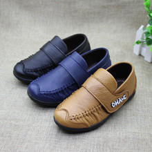 2017 Fashion Autumn Children genuine leather boys shoes Party Boy Shoes Flats Black Blue Brown Kids Casual Loafers For Boys