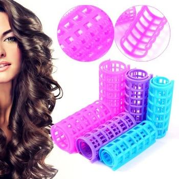 Magic Hair Curlers DIY Hair Salon Curlers Rollers Tool Soft Large Hairdressing Tools Plastic Hair Rollers 6/8/10/12pcs M03143 Чокер