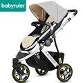 Babyruler cochecito de bebé plegable babyruler trollery ultraligero portátil plegable de tres ruedas de coche de bebé 10 colores 7 regalos gratis