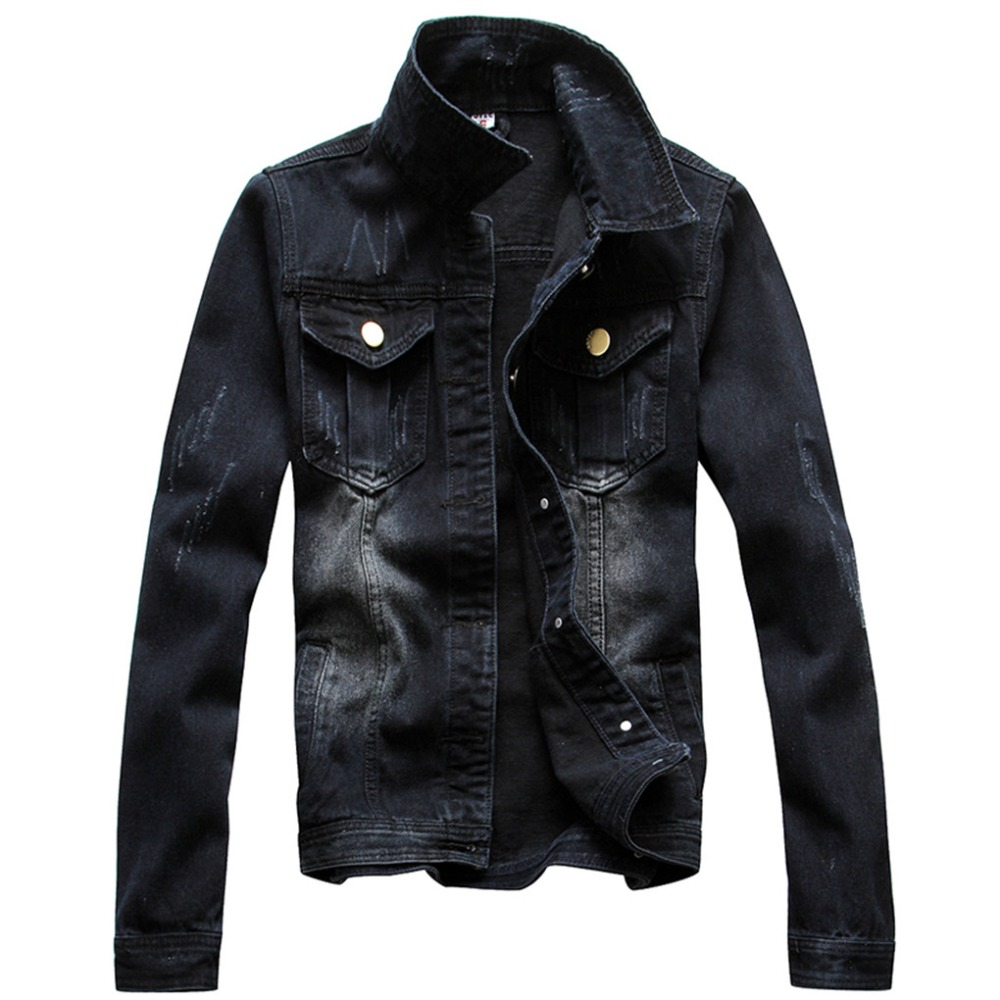 Free shipping vintage Jacket Autumn Men Full Sleeve Denim ...