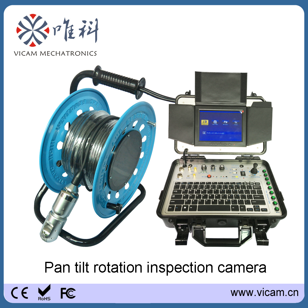 Vicam Chimney rotation camera inspection equipment 50m / 100m ...