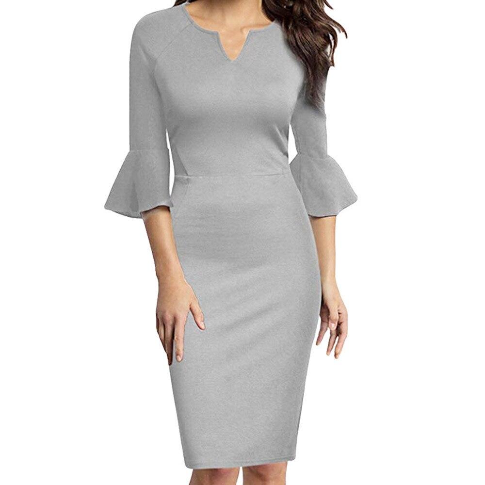 ee2a7b91a Cheap JAYCOSIN mujer Vestido Mujer de gran tamaño de Color sólido Slim de  cintura alta