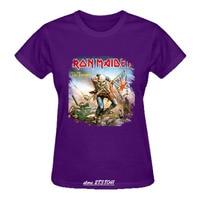 RTTMALL Rock Roll Band T Shirts For Women Short Sleeve Iron Maiden The Trooper Female Undershirt