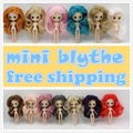 free shipping 10CM DIY nude doll  colorful long hair Pullip blyth mini doll
