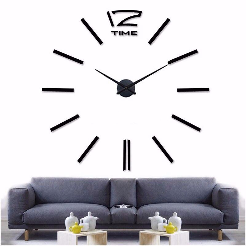 Muhsein украшения дома большое зеркало настенные часы современный Дизайн 3D DIY большие декоративные Настенные часы Часы настенные уникальный подарок
