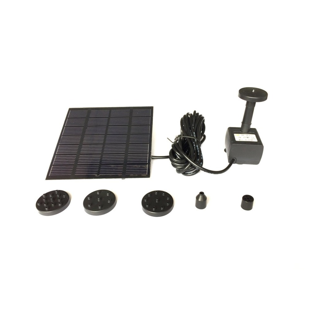 все цены на Solar Panel Power Water Pump Fountain Pump Kit For Outdoor Pool Garden Pond Submersible Square Watering Pump Quick Start онлайн