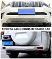 Защитный диффузор для бампера TOYOTA LAND CRUISER PRADO 150 2018 2019 2020  противоскользящая пластина  передние и задние аксессуары из нержавеющей стали