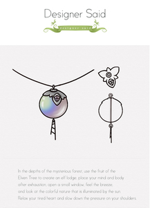 Image 3 - Thaya Original Elf House Design s925 Silver Window Necklace Colorful Crystal Bead Pendant Necklace for Women Classic Jewelry