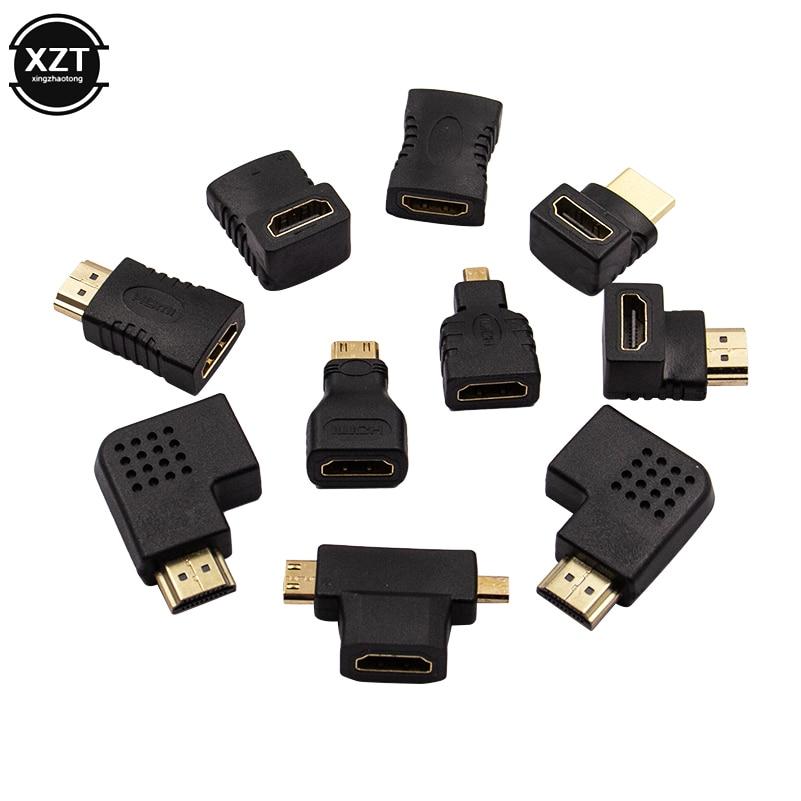10 шт., адаптер HDMI, 90 углов влево/вправо