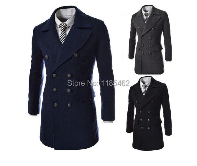 High quality 2017 Men's Dust Coat mens overcoat winter men's trench coat long trench coats for men