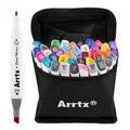 Arrtx 40 Cores Marcadores Da Arte Set Esboço Caneta de Tinta À Base de Álcool Para O Artista Suprimentos de Animação de Desenho Mangá