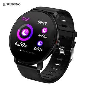 Image 1 - SENBONO K9ผู้ชายสมาร์ทนาฬิกาIP68กันน้ำIPS Full Touch Heart Rate MonitorฟิตเนสTrackerกีฬาผู้หญิงSmartwatch PK V11 k1