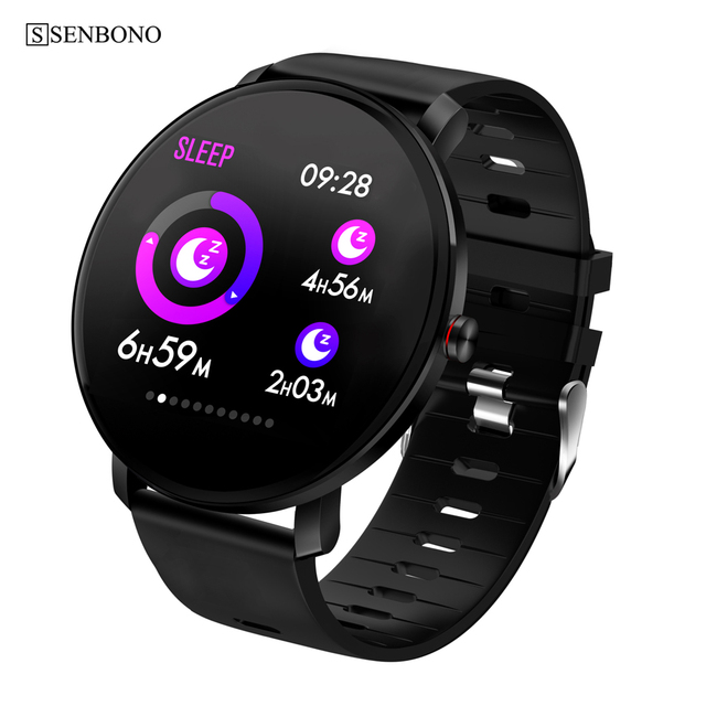 SENBONO K9ผู้ชายสมาร์ทนาฬิกาIP68กันน้ำIPS Full Touch Heart Rate MonitorฟิตเนสTrackerกีฬาผู้หญิงSmartwatch PK V11 k1