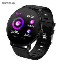 SENBONO K9 erkekler akıllı saat IP68 su geçirmez IPS tam dokunmatik nabız monitörü spor izci spor kadın smartwatch PK V11 K1