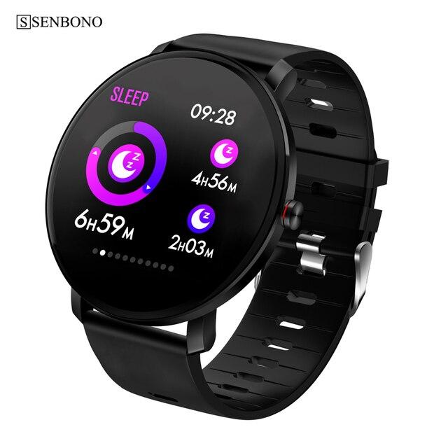 SENBONO K9 Men Smart watch IP68 waterproof IPS Full Touch Heart rate monitor Fitness tracker Sports Women smartwatch PK V11 K1
