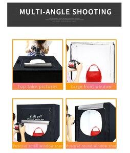 Image 4 - CY 60*60 センチ Led フォトスタジオライトテントソフトボックス撮影ライトテントソフトボックス + ポータブルバッグ + AC アダプタジュエリーおもちゃ Shoting