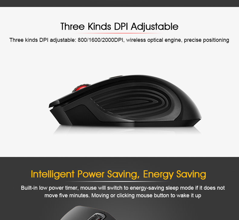 iMice Wireless Mouse 4 Buttons 2000DPI Mouse 12