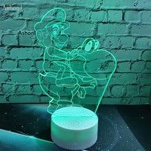 3D Lamp Super Mario Bro Table Desk Touch Sensor LED Bulb Night Light Atmosphere Decor for Kids Gift