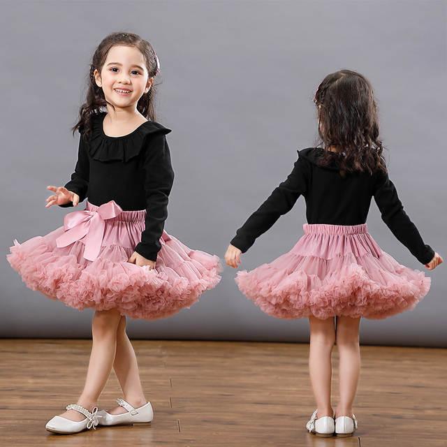 e9e04a3ab Moda bebé niñas faldas Tutu princesa vestido de baile de ballet tutu falda  niños traje de fiesta 0-8 Ys populares corbata