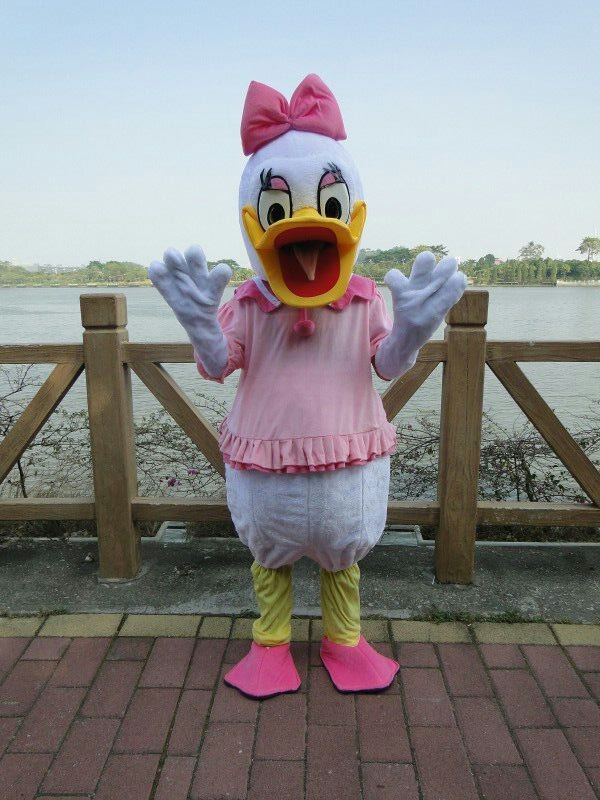 Disney Cosplay Donald /& Daisy Duck Mascot Costume Dress Cartoon  Adults Outfit